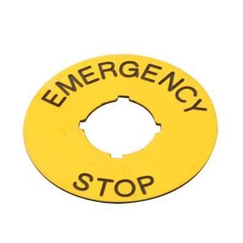 Acil Durum Stop Etiketi