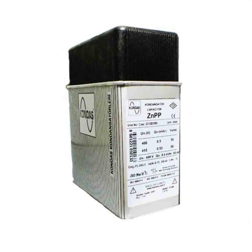 Kondaş 0,5 kVAr 3 Fazlı 400V Trifaze Kutu Tip Güç Kondansatörü ZG12D01B0