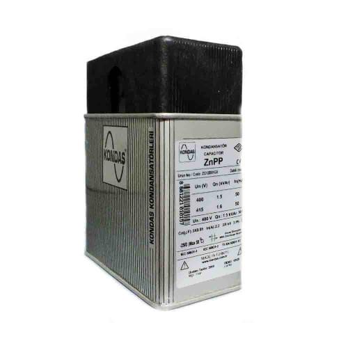 Kondaş 1,5 kVAr 3 Fazlı 400V Trifaze Kutu Tip Güç Kondansatörü ZG12D01G0