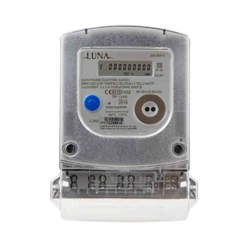 Luna Trifaze Digital Elektrik Sayacı