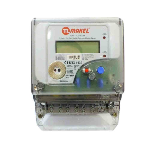 Makel Trifaze 3X100A Kombi Elektrik Sayacı C410.KMY.2211