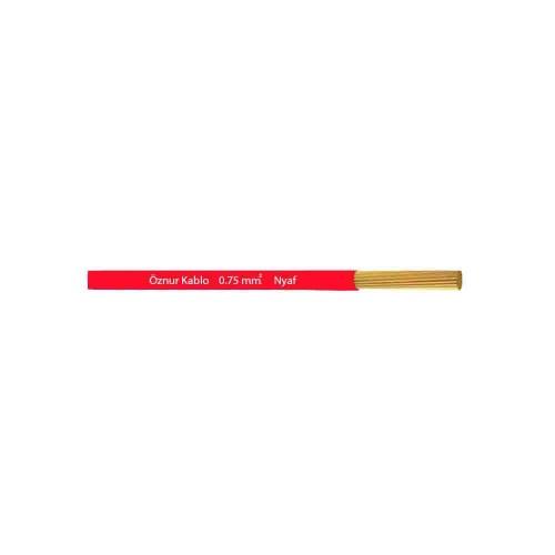 Öznur 1x0,75 mm NYAF Kablo-1m (Kırmızı)