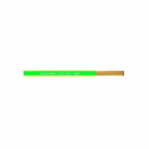 Öznur 1x0,75 mm NYAF Kablo-1m (Sarı/Yeşil)
