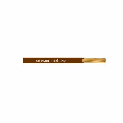 Öznur 1x1 mm NYAF Kablo-1m (Kahve)