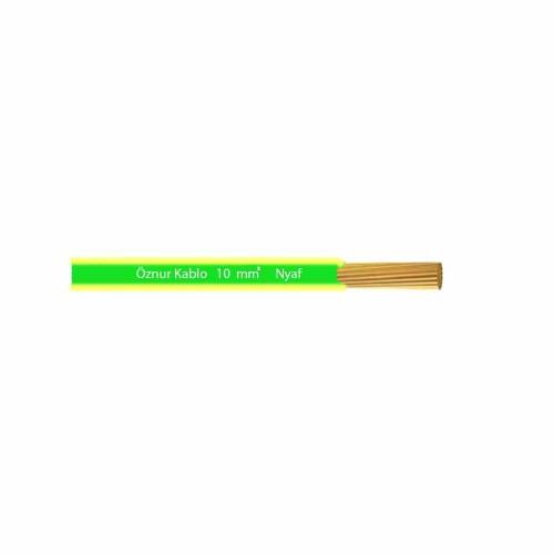 Öznur 1x10 mm NYAF Kablo-1m (Sarı/Yeşil)