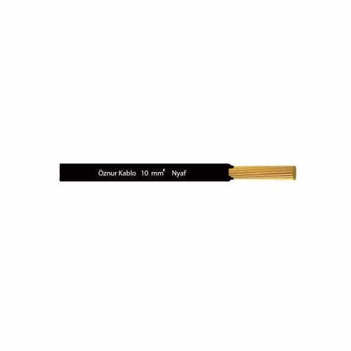 Öznur 1x10 mm NYAF Kablo-1m (Siyah)