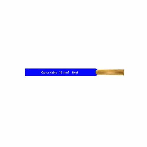 Öznur 1x16 mm NYAF Kablo-1m (Mavi)