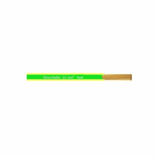Öznur 1x2,5 mm NYAF Kablo-1m (Sarı/Yeşil)