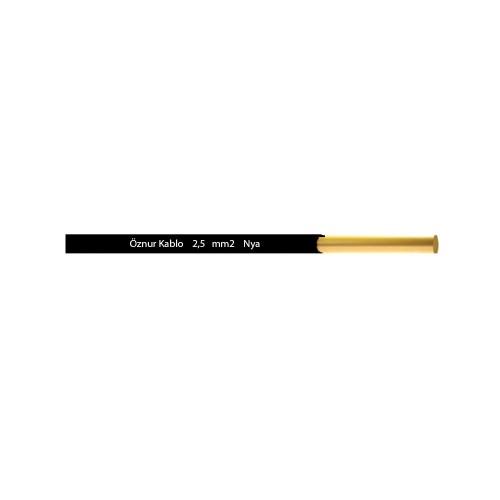 Öznur 2,5 mm NYA Kablo-1m (Siyah)