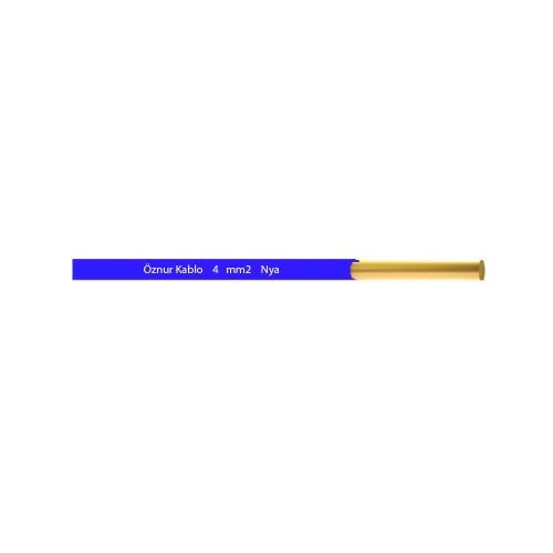 Öznur 4 mm NYA Kablo-1m (Mavi)
