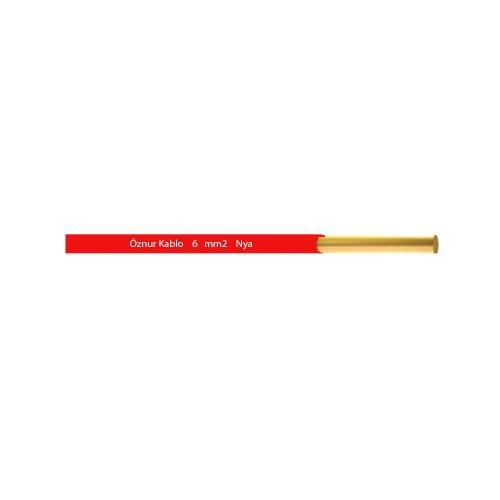 Öznur 6 mm NYA Kablo-1m (Kırmızı)