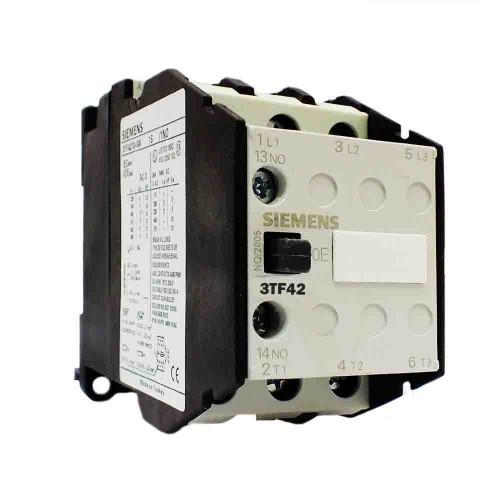 Siemens 16A 7,5kW 24V DC Güç Kontaktörü 1NO 1NC 3TF4211-0BB4
