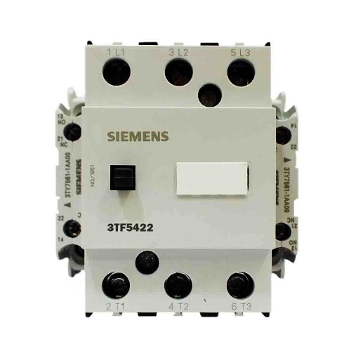 Siemens 250A 132kW Güç Kontaktörü 2N0 2NC 3TF5422-0AP0