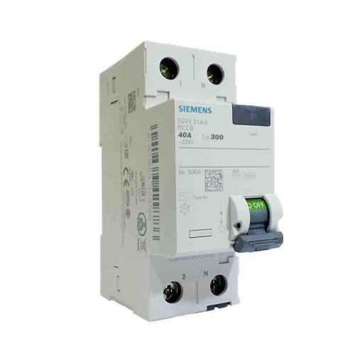 Siemens 2x40A 300mA Monofaze Kaçak Akım Rölesi 5SV4614-0