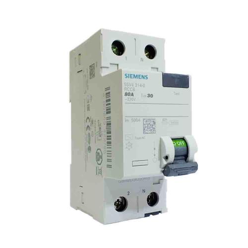 Siemens 2x80A 30mA Monofaze Kaçak Akım Rölesi 5SV4317-0