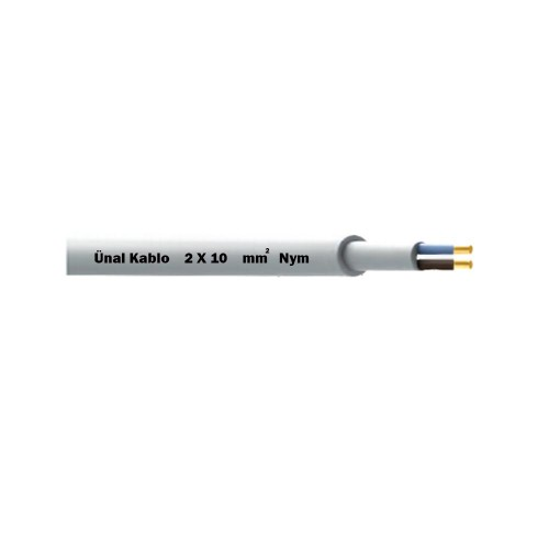 Ünal 2X10 mm NYM (Antigron) Kablo-1m