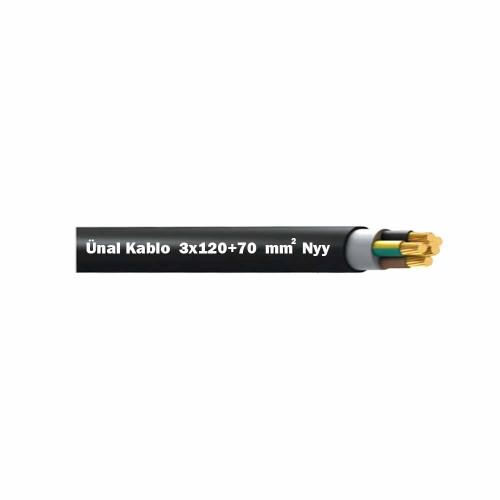 Ünal 3x120+70 mm NYY (Yeraltı) Kablo-1m
