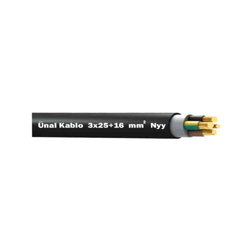 Ünal 3X25+16 mm NYY (Yeraltı) Kablo-1m
