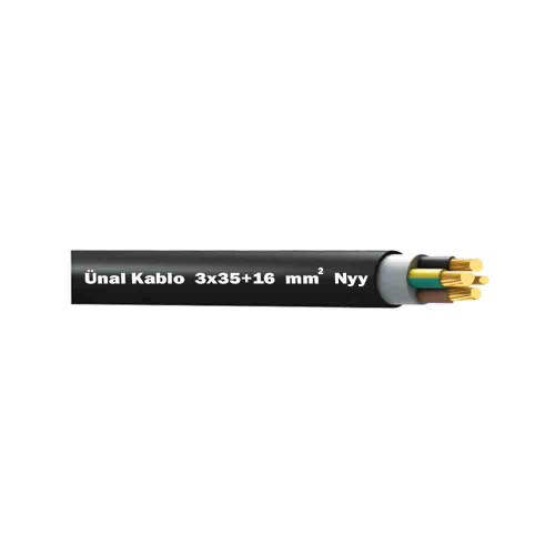 Ünal 3X35+16 mm NYY (Yeraltı) Kablo-1m