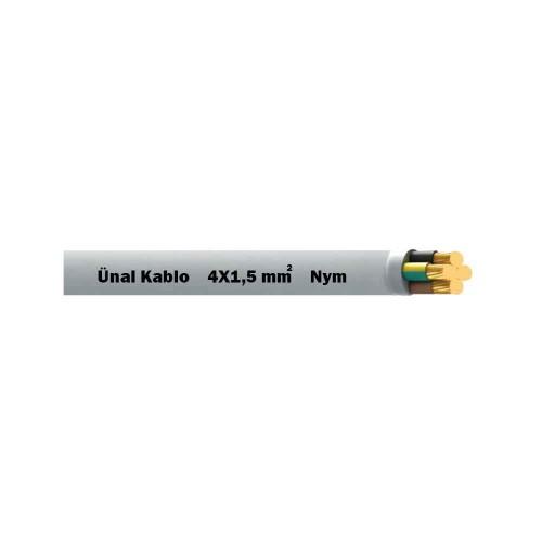 Ünal 4X1,5 mm NYM (Antigron) Kablo-1m