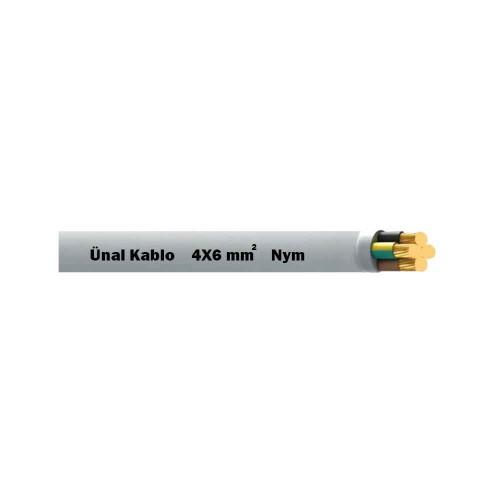 Ünal 4X6 mm NYM (Antigron) Kablo-1m