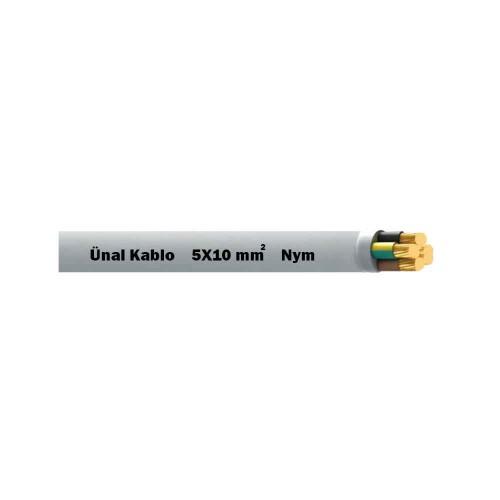Ünal 5X10 mm NYM (Antigron) Kablo-1m