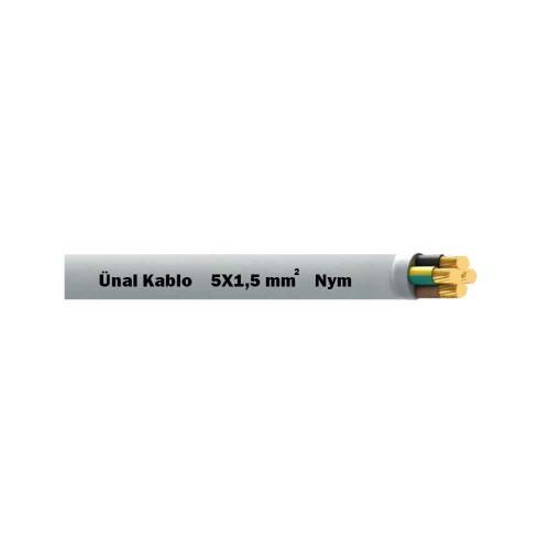 Ünal 5X1,5 mm NYM (Antigron) Kablo-1m