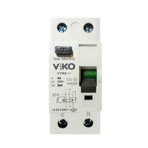 Viko 2x40A 300mA Kaçak Akım Rölesi VTR2-40300